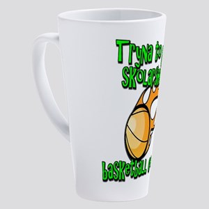 Funny Basketball College Scholarship 17 oz Latte M