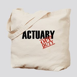 Off Duty Actuary Tote Bag