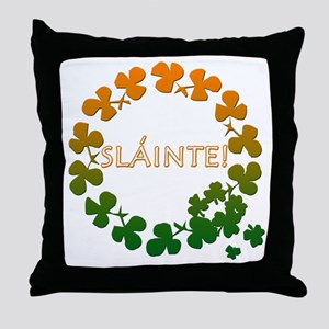 Slainte Irish Toast Throw Pillow