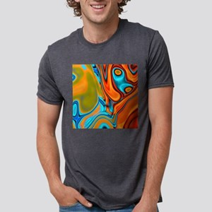 turquoise orange swirls T-Shirt