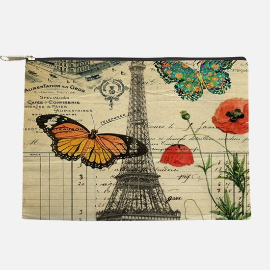 butterfly paris eiffel tower Makeup Bag