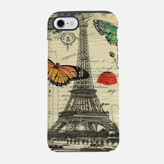 butterfly paris eiffel tower iPhone 8/7 Tough Case