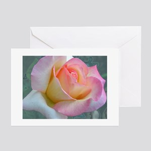 SOFTLY ROSE Greeting Cards