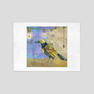 Steampunk Raven 5'x7'Area Rug
