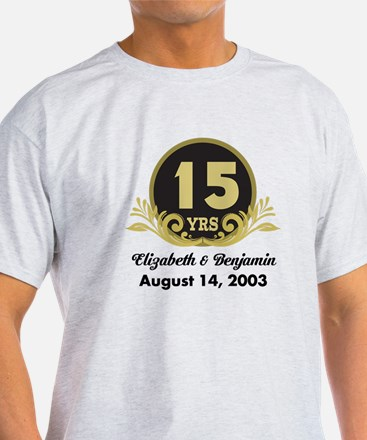 15th Anniversary Personalized Gift Idea T-Shirt