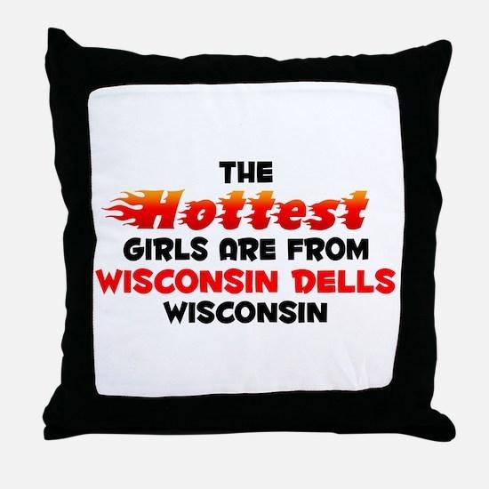 Hot Girls: Wisconsin De, WI Throw Pillow