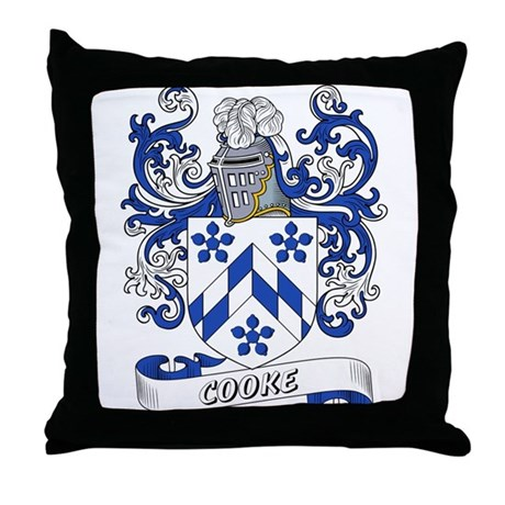 Cooke Coat of Arms Throw Pillow