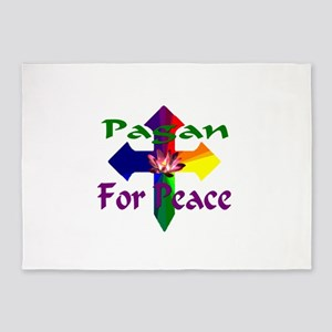 Pagan For Peace 5'x7'Area Rug