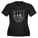 Go For A Hike Women's Plus Size V-Neck Dark T-Shir