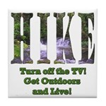 Go For A Hike Tile Coaster