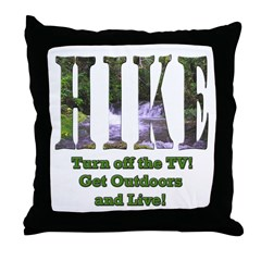 Go For A Hike Throw Pillow