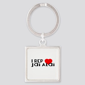 I Rep Jai Alai Sports Designs Square Keychain