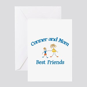 Conner& Mom - Best Friends Greeting Card