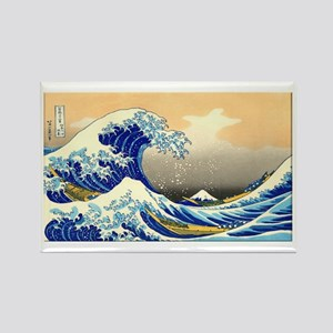 Great Wave Rectangle Magnet