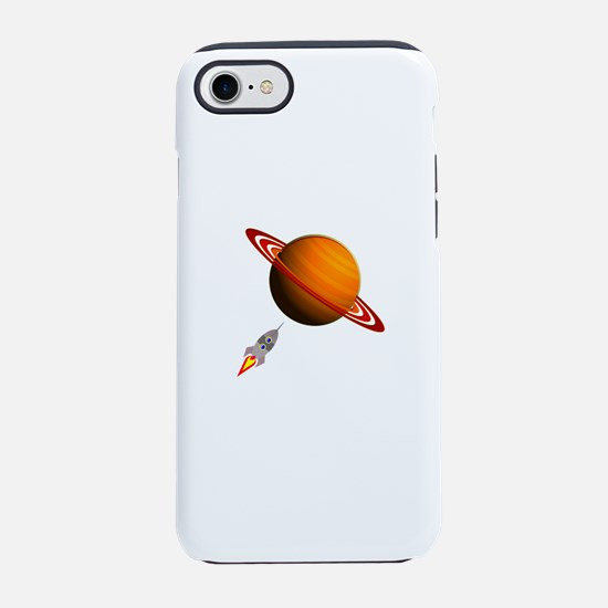 Planet with Spaceship iPhone 8/7 Tough Case