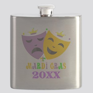 Mardi Gras customized Flask