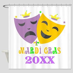 Mardi Gras customized Shower Curtain