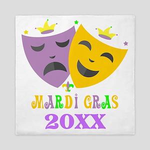 Mardi Gras customized Queen Duvet