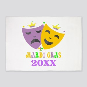 Mardi Gras customized 5'x7'Area Rug