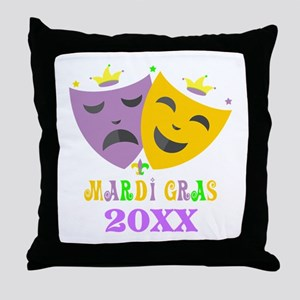 Mardi Gras customized Throw Pillow