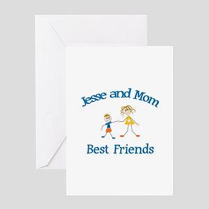 Jesse & Mom - Best Friends Greeting Card