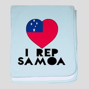 I Rep Samoa Country baby blanket