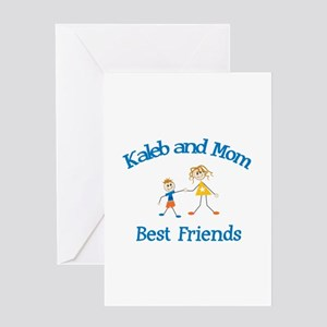 Kaleb & Mom - Best Friends Greeting Card