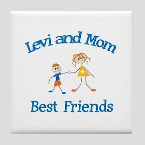 Levi & Mom - Best Friends  Tile Coaster