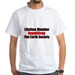 Lifetime Member: Republican F White T-Shirt