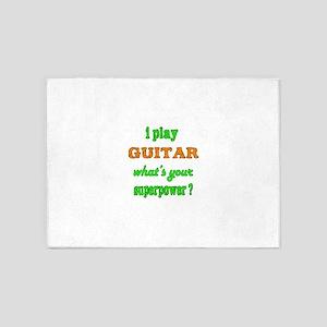 I Play Guitar 5'x7'Area Rug