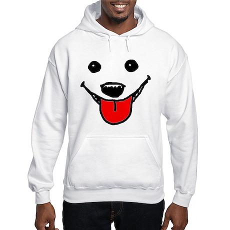 Happy Dog Face Hooded Sweatshirt