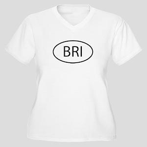 BRI Womes Plus-Size V-Neck T-Shirt