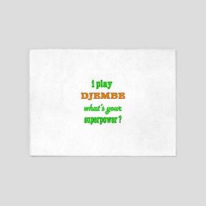 I Play Djembe 5'x7'Area Rug