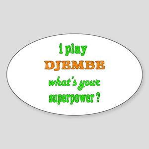 I Play Djembe Sticker (Oval)