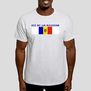 KISS ME I AM MOLDOVAN Light T-Shirt