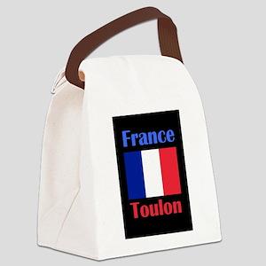 Toulon France Canvas Lunch Bag