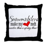 Heart Melt Throw Pillow