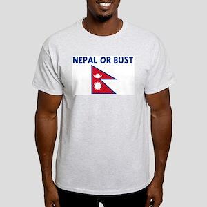 NEPAL OR BUST Light T-Shirt