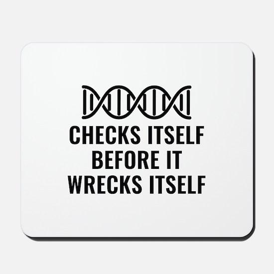 DNA Checks Itself Mousepad