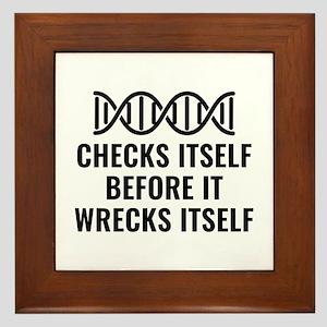 DNA Checks Itself Framed Tile