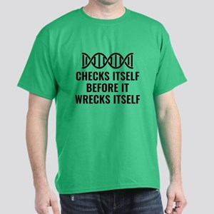 DNA Checks Itself Dark T-Shirt