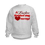 Trucker Hauled My Heart Away Kids Sweatshirt