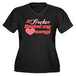 Trucker Haul Women's Plus Size V-Neck Dark T-Shirt