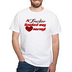 Trucker Hauled My Heart Away White T-Shirt