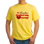 Trucker Hauled My Heart Away Yellow T-Shirt