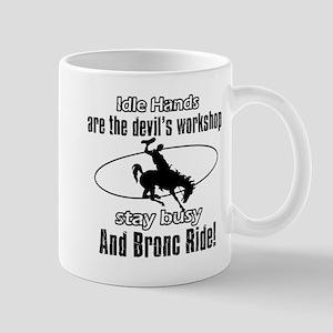 bronc ride sport design Mugs