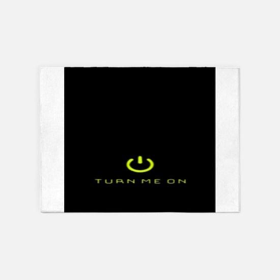 Turn Me On Yellow 5'x7'Area Rug