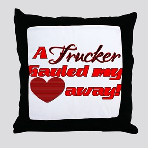 Hauled My Heart Away Throw Pillow