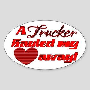 Hauled My Heart Away Oval Sticker
