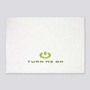 Turn Me On Yellow  5'x7'Area Rug